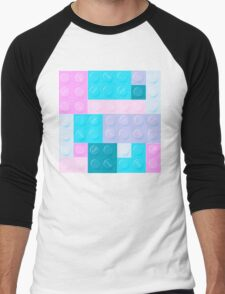 Blockz Pastel Men's Baseball ¾ T-Shirt
