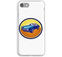American Vintage Muscle Car Rear Retro iPhone Case/Skin