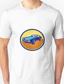 American Vintage Muscle Car Rear Retro T-Shirt