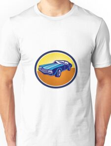American Vintage Muscle Car Rear Retro Unisex T-Shirt