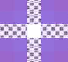 Violet & Purple Textured Plaid Pattern by WildTangles