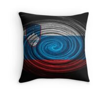 Slovenia Twirl Throw Pillow