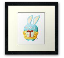 Cute Christmas Bunny Framed Print