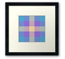 Blue, Purple & Yellow Plaid Textured Pattern Framed Print