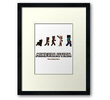 Minecraft - Minevolution Framed Print
