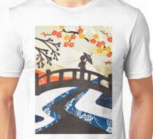 Geisha on Bridge Unisex T-Shirt