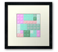 Blockz Pink Green Framed Print