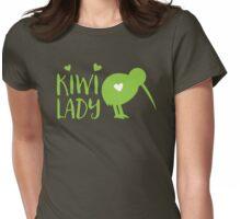 KIWI LADY cute kiwi bird Womens Fitted T-Shirt