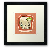 Dead Meat Skullworm Framed Print