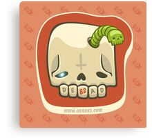 Dead Meat Skullworm Canvas Print