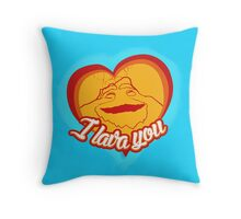 I Lava You (Heart) Throw Pillow