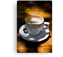 La passion … Cup, Saucer & Spoon Canvas Print