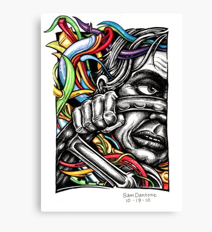 Driving... Canvas Print