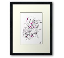 0604 - Pink and Black with some Details Framed Print
