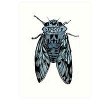 Cicada (blue) Art Print
