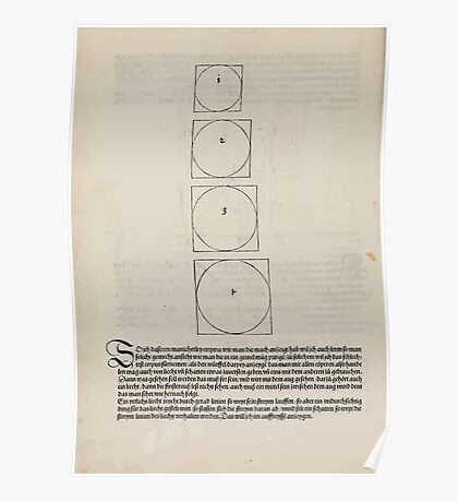 Measurement With Compass Line Leveling Albrecht Dürer or Durer 1525 0166 Repeating and Folding Shapes Poster