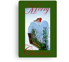 Red Robin Christmas Card Canvas Print