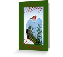 Red Robin Christmas Card Greeting Card