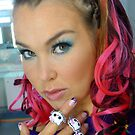 Pink hair and evil kitty rings by KanaShow