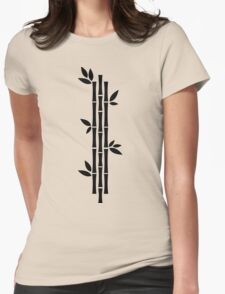 Black and white Bamboos Womens Fitted T-Shirt