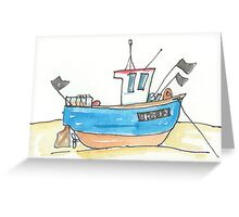 Aldeburgh Fishing Boat Suffolk Greeting Card