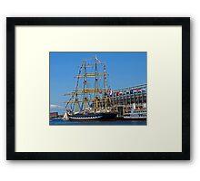 Tall Ships in Boston Framed Print
