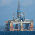Oil Rig in Cromerty Firth by mike  jordan.