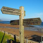Sign post by Rosemarkie Beach by mike  jordan.