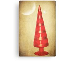 Red Christmas Tree Canvas Print