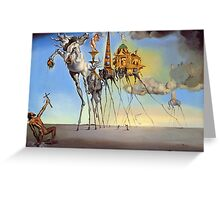 Salvador Dali - The Temptation of St. Anthony Greeting Card
