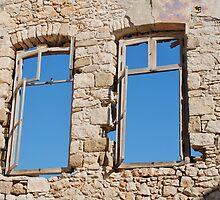 Old window on Halki by David Fowler