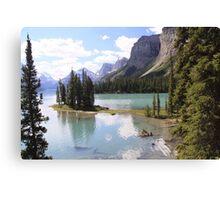 Spirit Island, Maligne Lake, Canada. Canvas Print