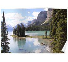 Spirit Island, Maligne Lake, Canada. Poster