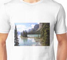 Spirit Island, Maligne Lake, Canada. Unisex T-Shirt