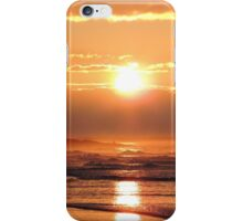 Sunset on Bamburgh Beach iPhone Case/Skin