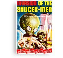Invasion of the Saucer Men Vintage Canvas Print