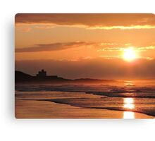 Sunset on Bamburgh Beach Canvas Print
