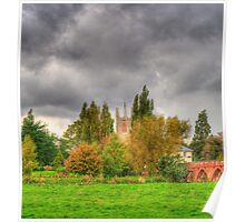 All Saints Church and the Anchor Pub Poster