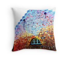 Scary Crying House - Unique Photography  Throw Pillow