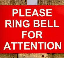 Red and white ring bell sign by steveball
