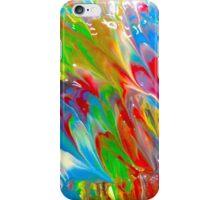 Wet Marbled Paint - Multicoloured Rainbow iPhone Case/Skin