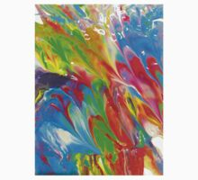 Wet Marbled Paint - Multicoloured Rainbow Kids Clothes