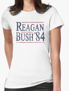Retro Reagan Bush '84 Election Womens Fitted T-Shirt