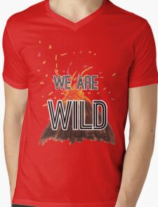 """Young Volcanoes- Fall Out Boy """"We Are Wild"""" Design  Mens V-Neck T-Shirt"""