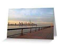 Lower Manhattan From Pier A Hoboken Greeting Card