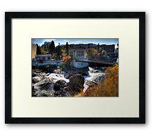 Washington Water Behind the Falls Framed Print