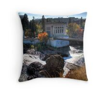 Washington Water Behind the Falls Throw Pillow