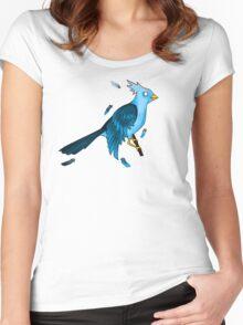 Zombie Blue Bird Women's Fitted Scoop T-Shirt