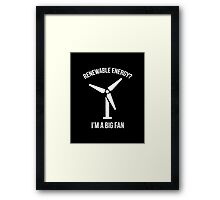 Renewable Energy Framed Print
