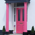 Pink Door and Pillars. by Livvy Young